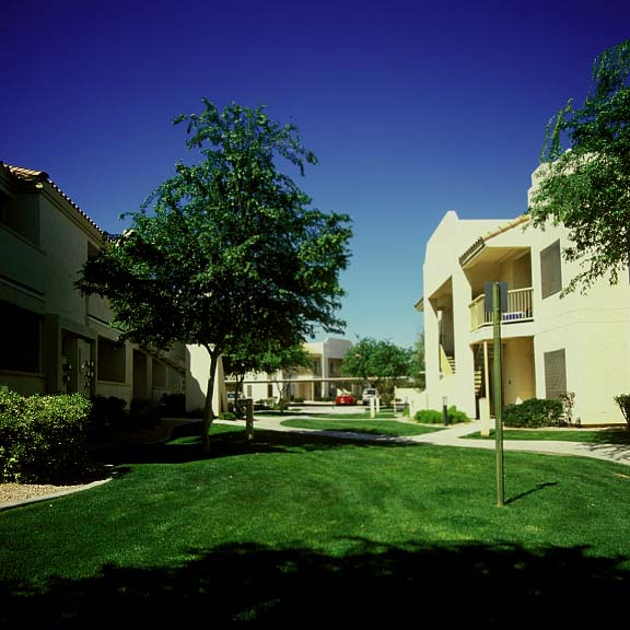 Grass-reinforcement system was installed in the fire lane areas at the Allegro Apartments in Phoenix, Arizona, using Grasspave2.