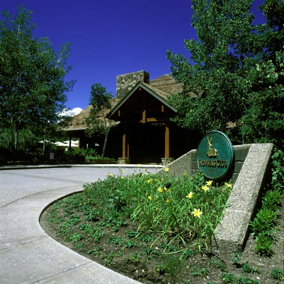 Grid pavers were installed in fire-lane access areas at the Snowmass Club in Snowmass, Colorado, using Grasspave2.