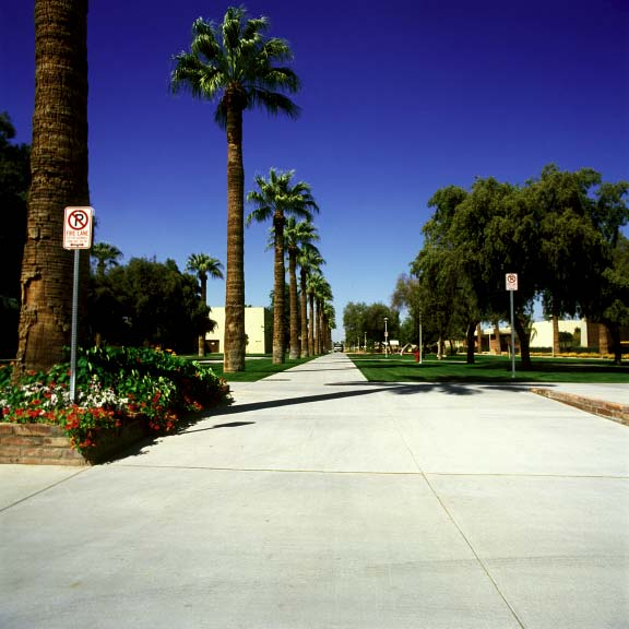 Grass porous pavers were installed in fire-lane access areas at Glendale Community College using Grasspave2.