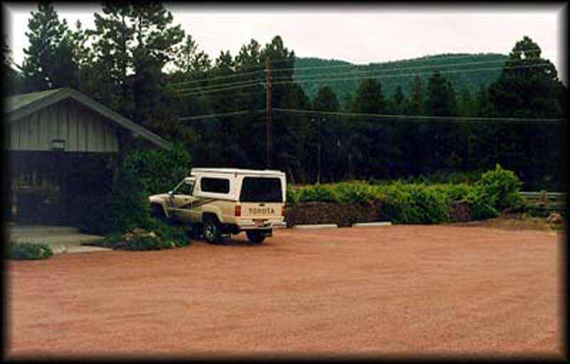 Aggregate paving was installed in the parking lot at the Grand Canyon Trust in Flagstaff, Arizona, using Gravelpave2.