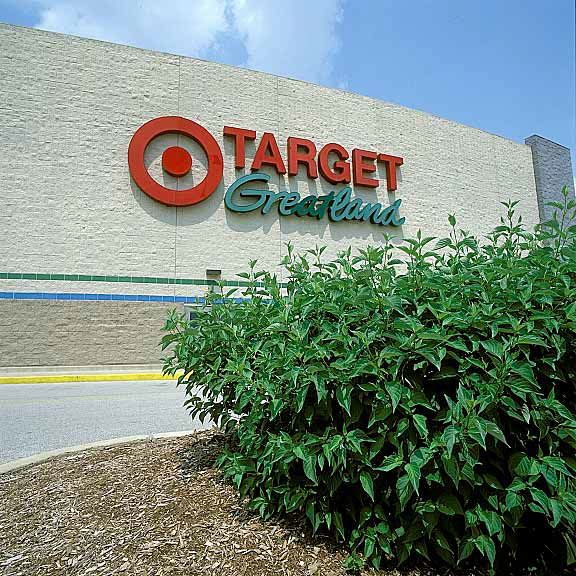 Porous turf reinforcement was installed in the fire lane access areas at the Target Greatland store in Lombard, Illinois, using Grasspave2.