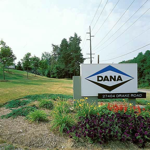Grass fire lane was installed in the display areas and fire lane areas at Dana Incorporated in Farmington, Michigan, using Grasspave2.