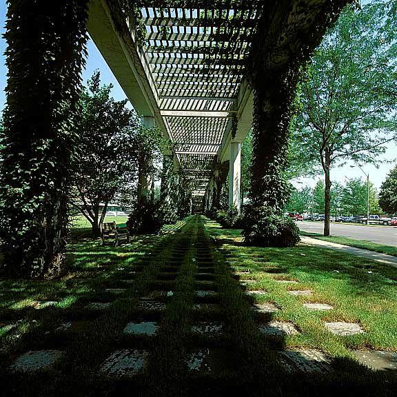 Grass porous pavement was installed at Cummins Engine, Columbus, Indiana, using Grasspave2.