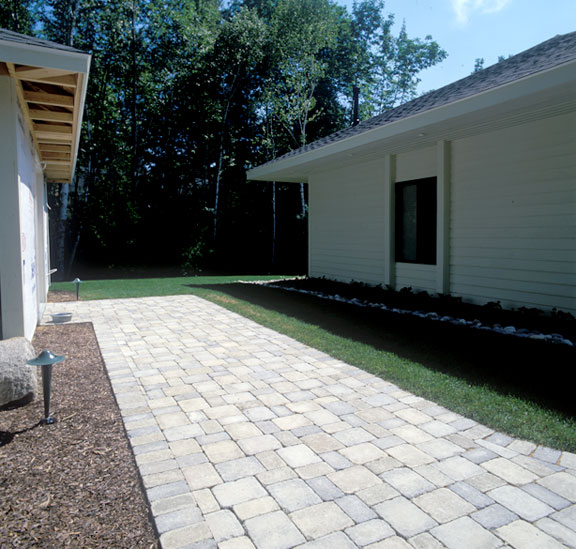 Grass porous pavers were installed in the boat access lane using Grasspave2.