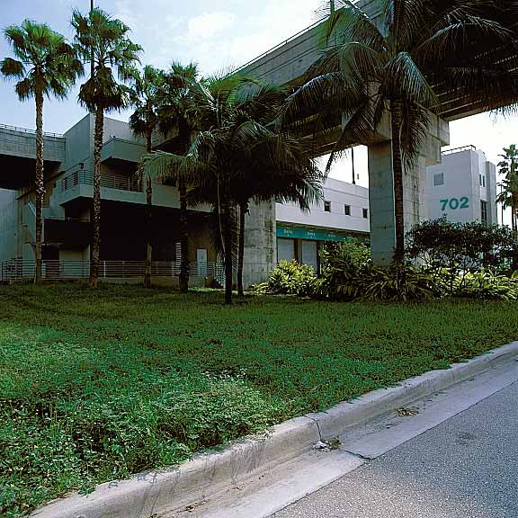 Permeable Pavers were installed in access areas at Delta Airlines Cargo Building 702, Miami, Florida, using Grasspave2.