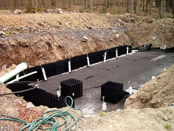 A complex problem at the Arrowhead Lake water treatment facility was solved through installing a two pronged solution using Draincore2 and Rainstore3.