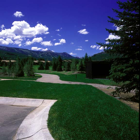 Turf reinforcement was installed in fire-lane access areas at the Snowmass Club in Snowmass, Colorado, using Grasspave2.