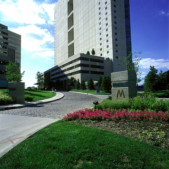 Grass Fire Lane was installed in the fire lane access areas at the Miranova Residences and Office Tower in Columbus, Ohio, using Grasspave2.