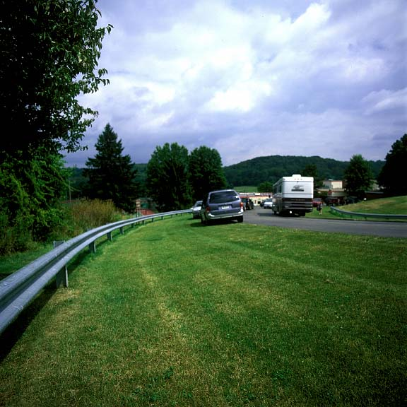 Porous Parking was installed to provide additional-event parking at Fox Chapel Area High School, Pittsburgh, Pennsylvania, using Grasspave2.