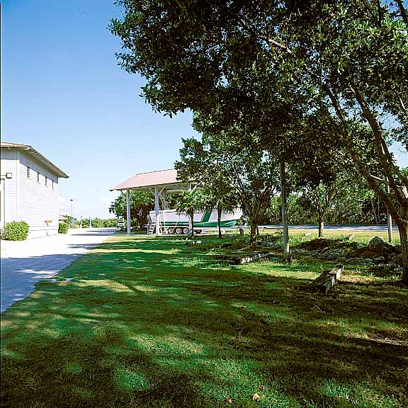 Turf Pavers were installed in the parking and swale areas at Biscayne National Park, Homestead, Florida, using Grasspave2.