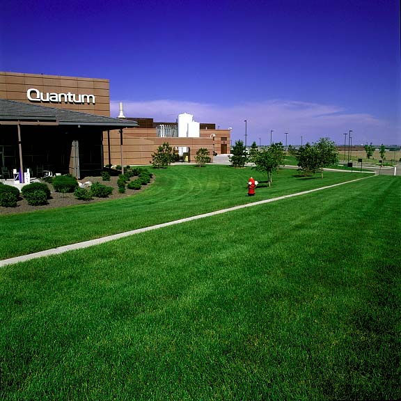 A Reinforced-Grass Fire Lane was installed at Quantum Peripherals Headquarters, Louisville, Colorado, using Grasspave2.