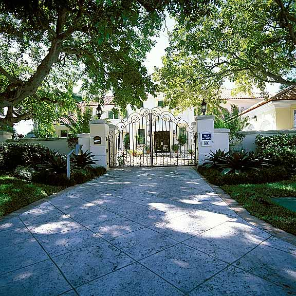 Grass Pavement was installed for guest parking at this home on Key Biscayne Island, Florida, using Grasspave2.