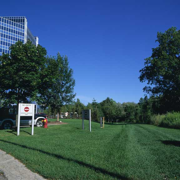 Porous Pavement was installed in the fire lane access areas at Blue Cross - Blue Shield of Michigan, Southfield, Michigan, using Grasspave2.