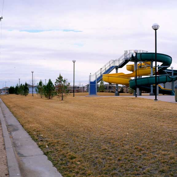 Grass Pave was installed in the fire lane areas at the West Mesa Aquatic Center, Albuquerque, New Mexico, using Grasspave2.