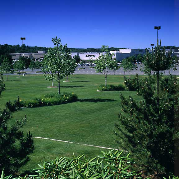 Porous Pavement was used in the parking area at Westfarms Mall, West Hartford, Connecticut, using Grasspave2.