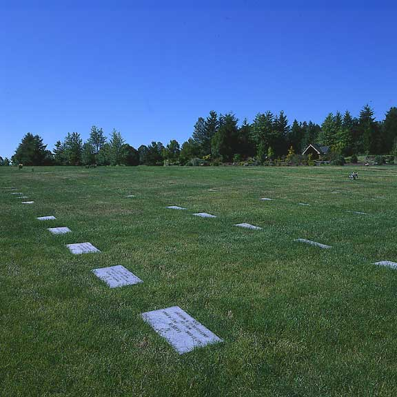 Grass Pavers were installed to stabilize the ground so that tombstones would not sink or slip out of position at the Willamette National Cemetery, Portland, Oregon, using Grasspave2.