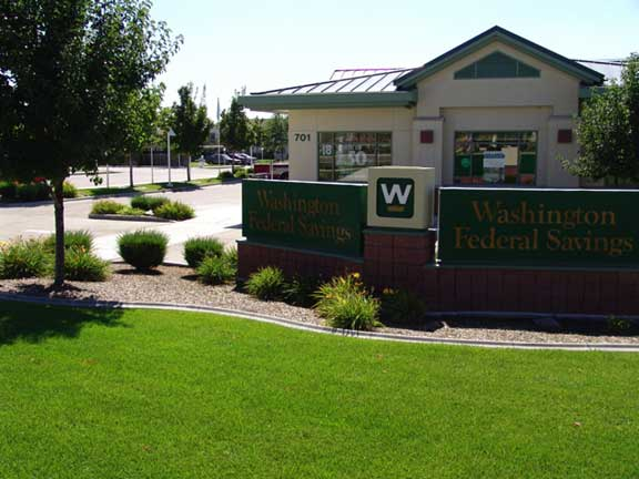 Subsurface-Water Detention was installed at Washington Federal Savings and Loan, Eagle, Idaho, using Rainstore3.