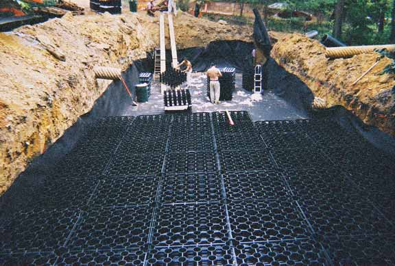 Stormwater Storage was installed at the National Cathedral using Rainstore3.