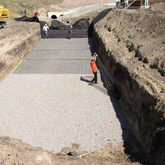 Subsurface-Water Storage was installed at Gym 2000, Castle Rock, Colorado, using Rainstore3.