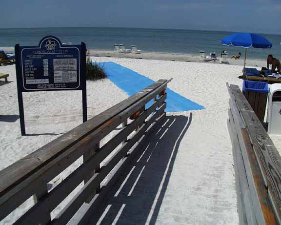 Wheelchair-Access mats were installed at Longboat Key Club Resort, Longboat Key, Florida, using Beachrings2.