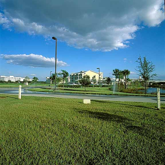 Grass Pavers were used for fire lane and lake access at Cypress Cove, Life Care, Fort Myers, Florida, using Grasspave2.