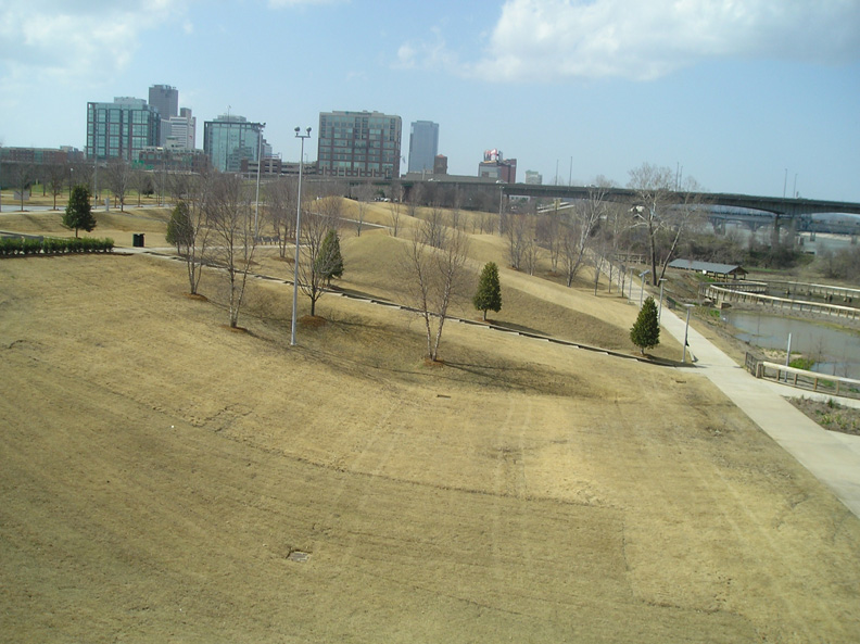 A Permeable-Grass-Paving-Reinforcement System was installed on the grounds of the Clinton Presidential Library in Little Rock, Arkansas, using Grasspave2.