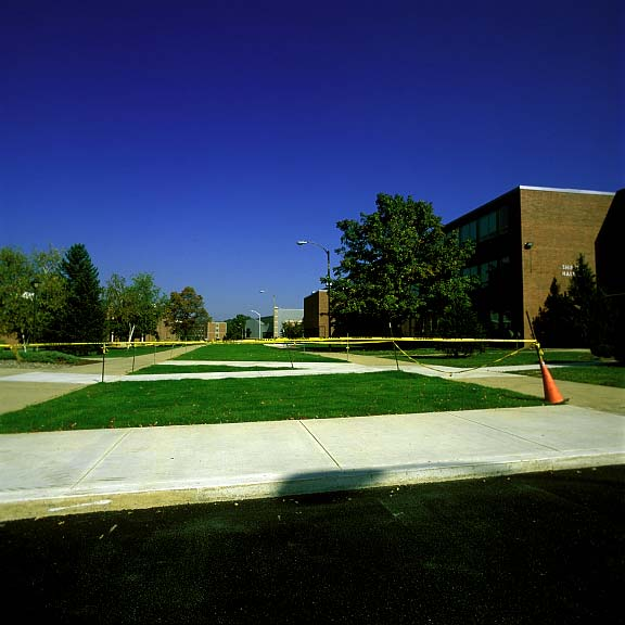Grid Pavers were installed in the fire lane access areas at Shippensburg University in Shippensburg, Pennsylvania, using Grasspave2.