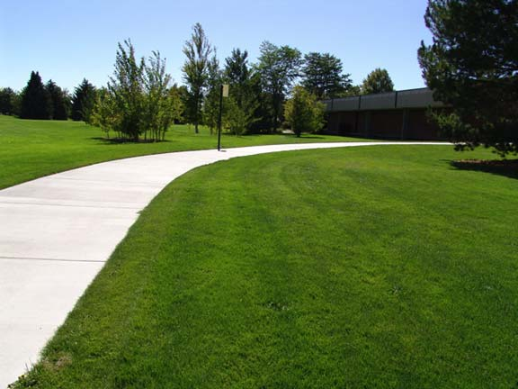 Pervious Paving was installed on each side of the sidewalk to create a fire lane, using Grasspave2.