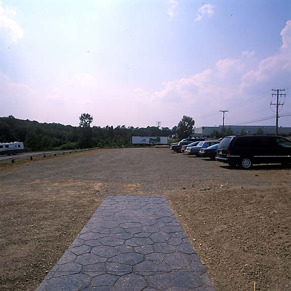 Aggregate Paving was installed in the parking lot at Erie County Conservation District, Erie, Pennsylvania, using Gravelpave2.