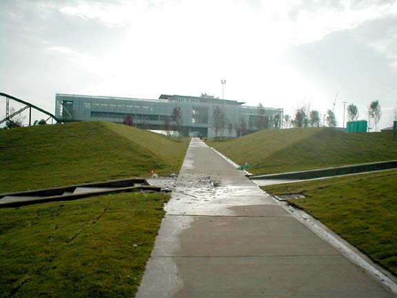 Grass Paving was installed in fire lane access areas of the Clinton Presidential Library in Little Rock, Arkansas, using Grasspave2.