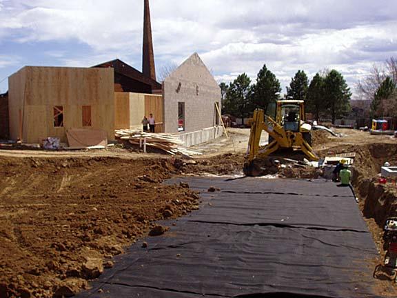 Underground-Water Storage was installed at the Good Shepherd Episcopal Church, Centennial, Colorado, using Rainstore3.
