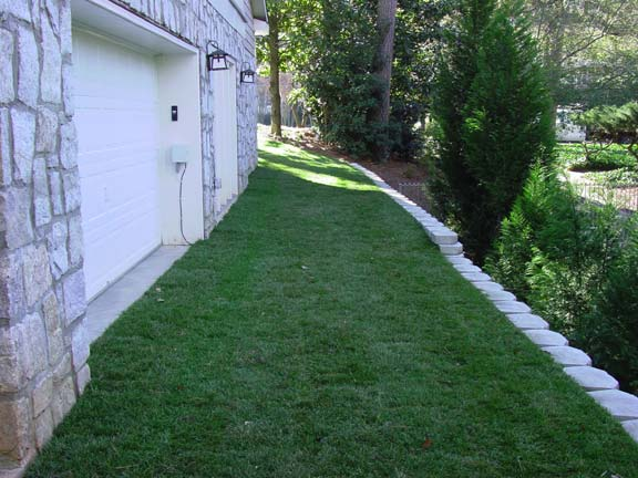 Turf Stabilization was installed in the driveway of this private residence in Atlanta, Georgia, using Grasspave2.