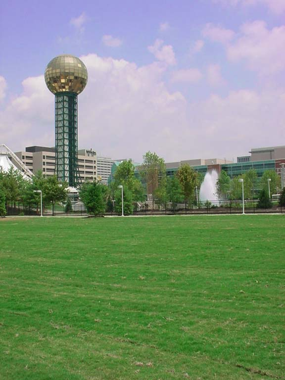 Grass Pavers were installed in the World's Fair Park Performance Lawn, Knoxville, Tennessee, using Grasspave2.