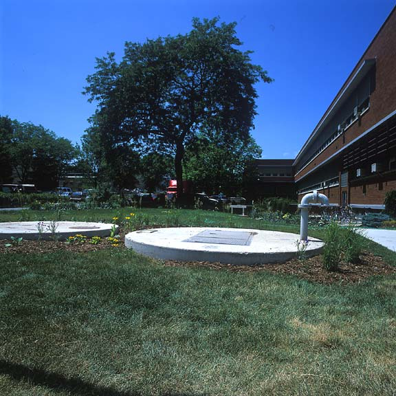 Grass-Porous Paving was installed in the utility-access areas at the University of Wisconsin in Madison, Wisconsin, using Grasspave2.