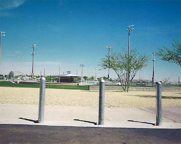 Gravel and Grass Reinforcement were installed in the fire lane access areas at Goodyear Community Park, Goodyear, Arizona, using Gravelpave2 and Grasspave2.
