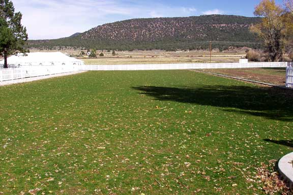 Grass Reinforcement was installed in the parking lot of Pine Valley LDS Church, Pine Valley, Utah, using Grasspave2.