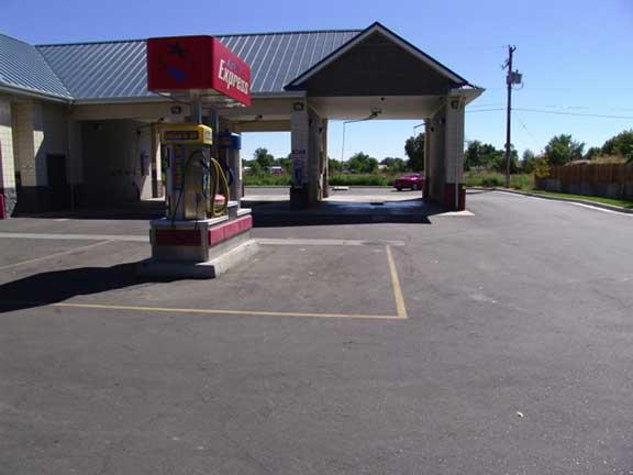 Stormwater Storage was achieved at Star Merc Car Wash, Star, Idaho, using Rainstore3.
