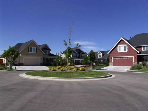 Underground-Water Detention was achieved at Brookwood housing complex in Eagle, Idaho, using Rainstore3.
