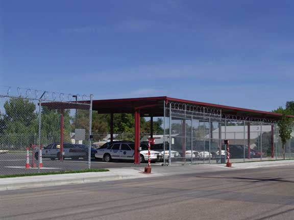 Stormwater Storage was achieved at Canyon County Vehicle Maintenance in Caldwell, Idaho, using Rainstore3.