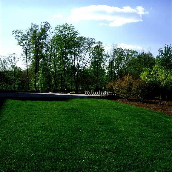 A Grass-Reinforcement Grid was installed in the fire lane access areas at SAS Computer Company in Cary, North Carolina, Grasspave2.
