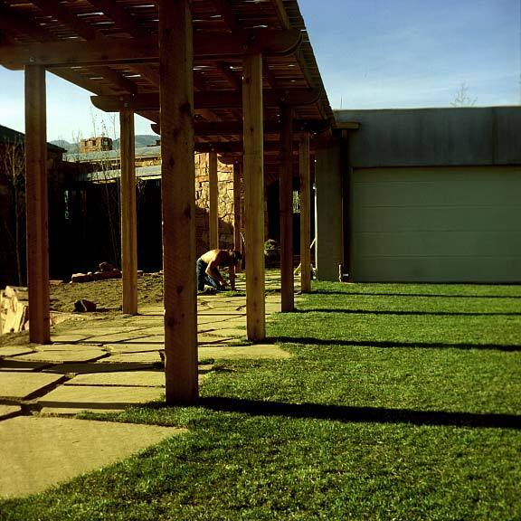 A Grass-Reinforcement System was installed in the parking area of this Colorado Springs, Colorado, residence using Grasspave2.