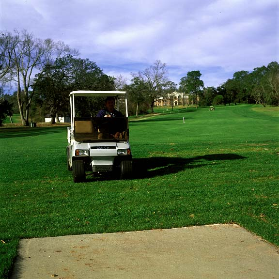 Grass Pavers were installed at Springhill College Golf Course in Mobile, Alabama, using Grasspave2.
