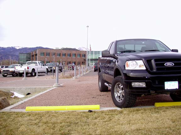 Pervious Pavement was installed in the parking lots at Pikes Peak Regional Development Center, Colorado Springs, Colorado, using Gravelpave2.