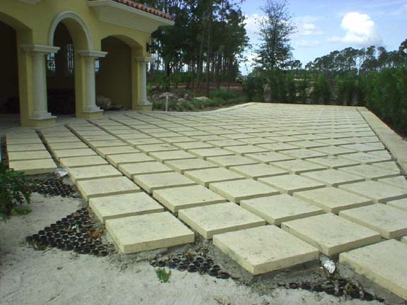 A Paver-Support System was installed at the Old Palm Golf Course Residences, Palm Beach, Florida, using Grasspave2.