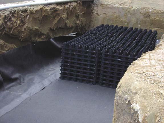 Rainwater Storage was installed at the Stephen Epler Hall, Portland State University in Portland, Oregon, using Rainstore3.