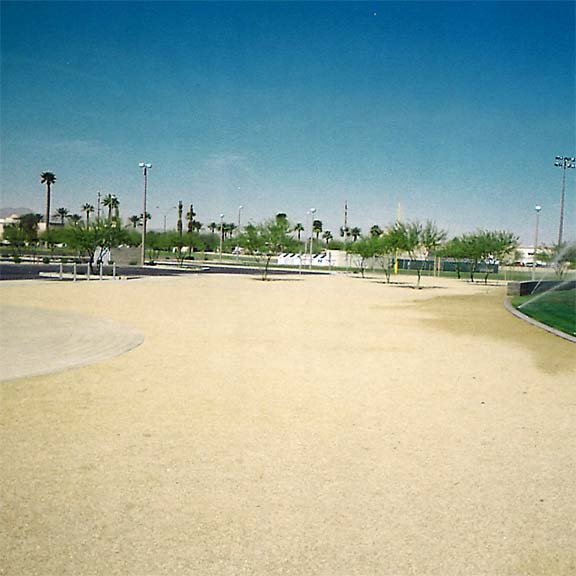 Gravel and Grass Paving were installed in the fire lane access areas at Goodyear Community Park, Goodyear, Arizona, using Gravelpave2 and Grasspave2.