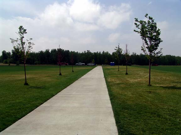 Permeable Paving was installed in the emergency-access lane at the Aurora Sports Park, Aurora, Colorado, using Grasspave2.