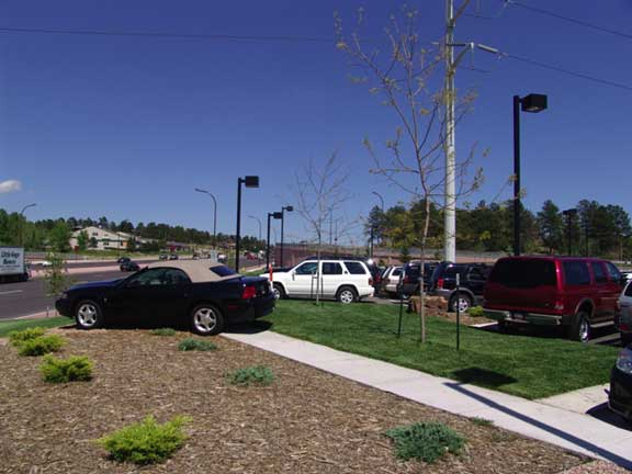 A Turf-Reinforcement System was installed in the automobile display areas at Woodmen Nissan in Colorado Springs, Colorado, using Grasspave2.