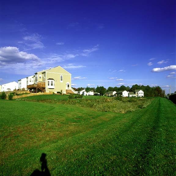 Erosion Control was achieved at Ballymeade Homes & Town Homes in Wilmington, Delaware, using Slopetame2.