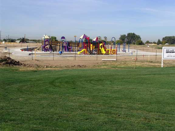 Stormwater Harvesting was achieved at Settlers Park in Meridian, Idaho, using Grasspave2.